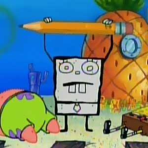 DoodleBob with the pencil