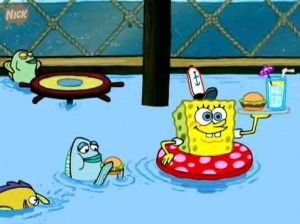 file swimming from spongepedia the biggest spongebob wiki in the world
