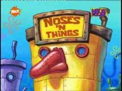 Noses N Things From Spongepedia The Biggest Spongebob